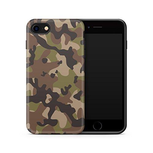 iPhone SE 2020 und iPhone 8 / 7 kompatible Hülle, Cujas Weiche Camouflage TPU Silikon Schutzhülle Blickdicht mit IMD Technologie Camo Militär Muster Hülle Schutz Handyhülle (iPhone SE 2020 / 7 / 8 Grün)