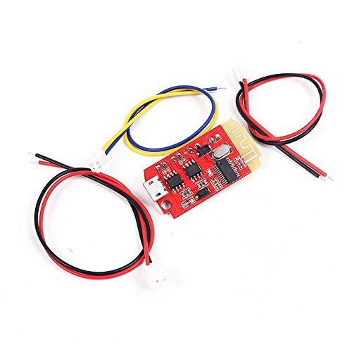 SODIAL Ct14 Micro-4.2 Stereo Power Amplifier Board Modulo Bluetooth 5 VF 5 W + 5 W Mini con Porta di Ricarica per Sound Box Riassemblaggio Lento