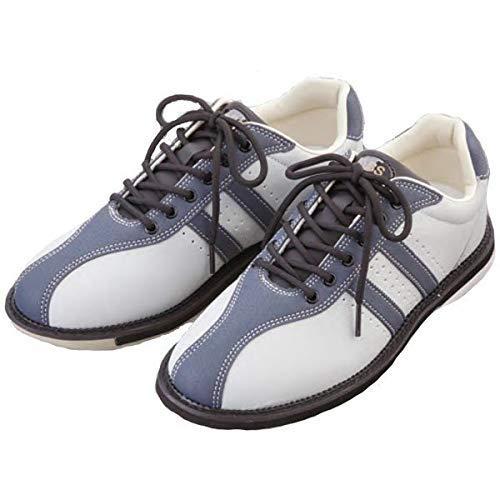 (ABS) ボウリングシューズ S-380 グレー・ダークグレー ボウリング用品 ボーリング グッズ 靴 (26.5, 右)