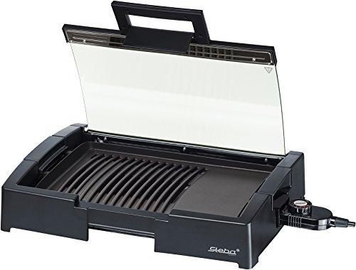 Steba BBQ-Tischgrill, schwarz, 37 x 44,5 x 9 cm, 066200