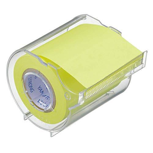 ヤマト 付箋 メモック ロールテープ 強粘着 カッター付き 50mm×10m PRK-50CH-LE カッター/レモン ×3 セット