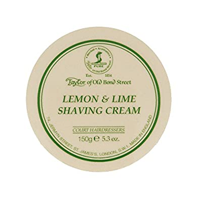 Taylor of Old Bond Street 150g Lemon and Lime Shaving Cream Bowl by Taylor of Old Bond Street