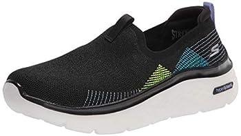 Skechers Women s GO Walk Hyper Burst Knit Slip ON Sneaker Black/Multi 8