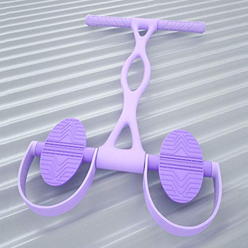 Dykee Tragbar Fitness-Pedal-Trainingsgerät Sit-up-Trainingsgeräte Bauchtrainer Bodybuilding-Band Elastisches Zugseil Multifunktions-Spannseilzieher für Heimgymnastik-Taillenarm-Yoga Fitnesszubehör