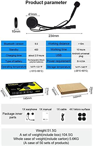 Casco Bluetooth Integrado para Motocicleta Certificado ECE/Dot Casco Tipo Abatible Casco para Motocicleta Bluetooth Modular Casco para Adultos,XL=(61~62cm) H
