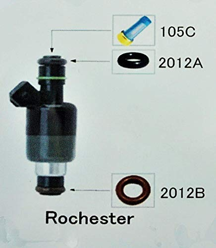 (Complete) Fuel Injector Rebuild Kit for ROCHESTER with Optional Filter Removal Tool