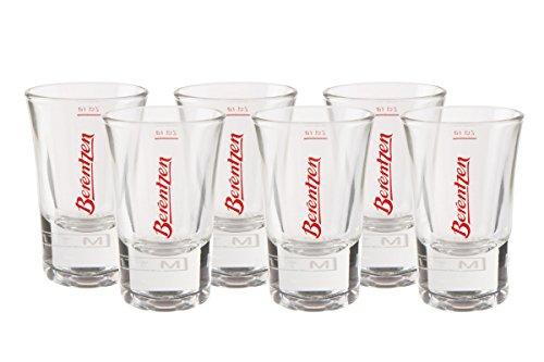 6er Berentzen Glas Gläser Stamper 2cl