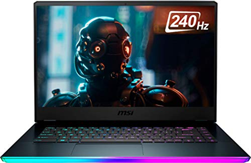 MSI GE66 Raider 10SFS 15.6-inch 1TB SSD 2.6GHz i7 Gaming Laptop (32GB RAM, 6-Core i7-10750H, GeForce RTX 2070, Windows 10 Home) GE66048, Aluminum Black (Renewed)