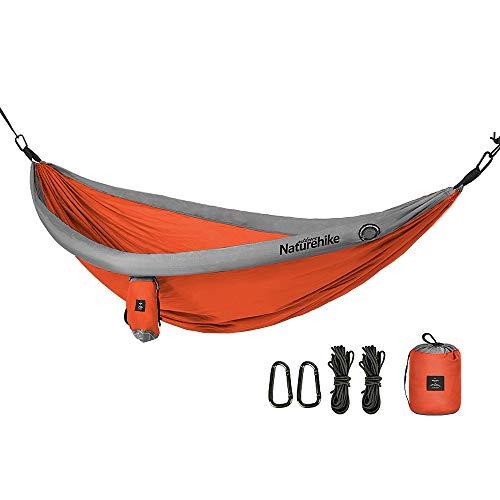 Novopus Hamac:Naturehike Hamac de Camping Extérieur Poids Léger, Mini, Favorise la Bonne Humeur TPU, Fibre Nylon pour 1 Personne Camping - Orange, Bleu de Minuit, Jaune:Orange