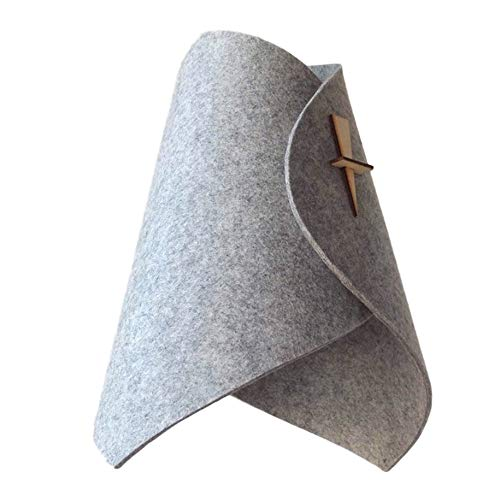 Haushalt Filz Lampenschirm Staubdicht Kronleuchter Schutzabdeckung Dreieck Kegelförmige Lichtabdeckung, grau