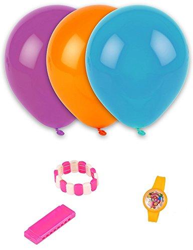 Kit de 4 ballons et 3 jeux - Jouet enfant Anniversaire Pinata - 073