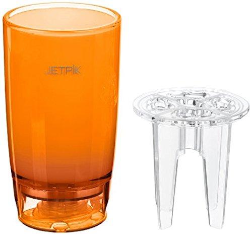 JETPIK JA05-110-04 Kombibecher mit Zubehörhalter und Wasserzuleitung, Orange