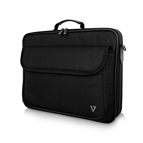 V7 CCK16-BLK-3E Essential Tragetasche für Notebooks bis zu 16.1 Zoll, 40,9cm, Schwarz