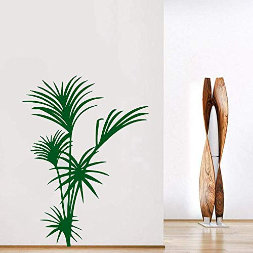 Cassava Pflanze Wandaufkleber Palme Wandkunst Baum Blatt Wandaufkleber Natürliche Aufkleber Home Interior Design Wallpaper Grün 31X42Cm