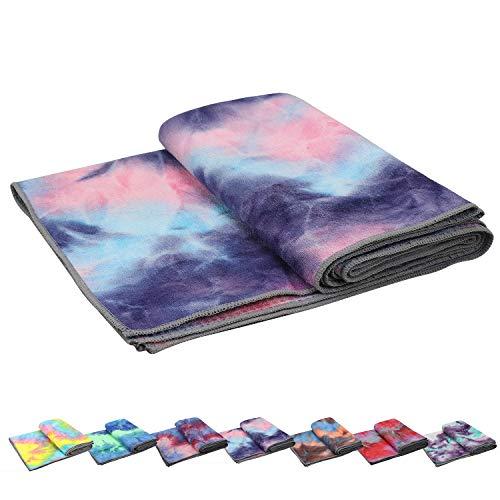 Yoga Towels , Non Slip Hot Yoga Towel Skidless Waffle Texture, 100% Absorbent Odorless Microfiber Yoga Blanket, Standard Sized 24 inchx72 inch Mat Towel,for Hot Yoga, Bikram, Pilates