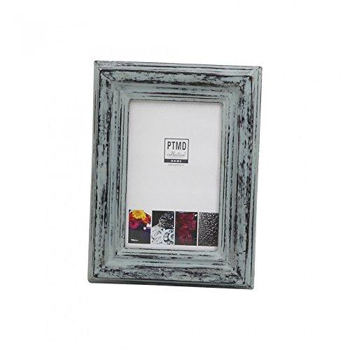 Vintage fotolijst madera grijs antiek van mango hout Shabby Chic - Afmetingen: 31,0 x 3,0 x 24,0 cm