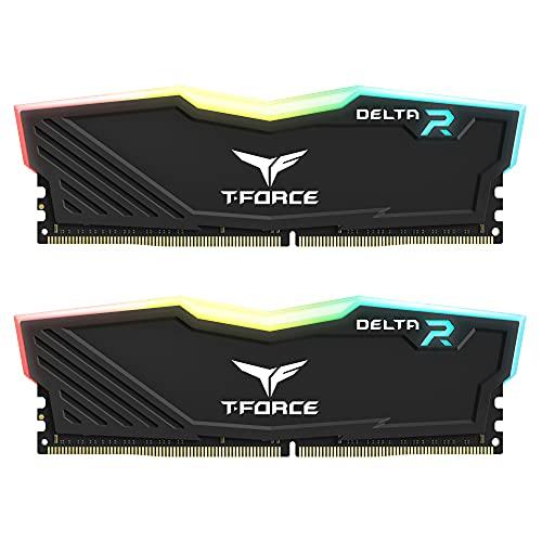 TEAMGROUP T-Force Delta RGB DDR4 16GB (2x8GB) 3600MHz (PC4-28800) CL18 Desktop...