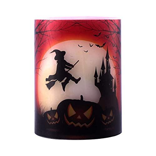 ERZHUI Velas de Halloween Vela LED sin Llama sin batería para Halloween