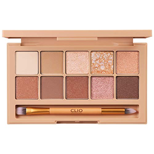 CLIO Pro Eye Shadow Palette | Matte, Shimmer, Glitter, Pearls, Highly Pigments, Long-Wearing | Coral Talk (#03)