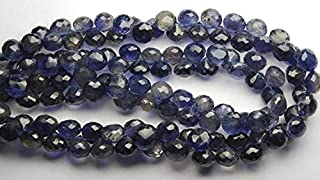 Jewel Beads 50% Off 8 Inch Strand,Superb-Finest Quality, Water Sapphire Faceted Onions Shape Briolettes, 6-8mm Size, Code-AUR-54858