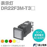 富士電機 DR22F3M-T3R 表示灯 (角フレーム) (平形 □24) (トランス付) (LED) (ランプ使用電圧: AC440V) (赤) NN