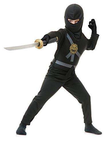 Charades Child's Ninja Avenger Costume, Black, Large
