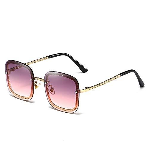 YIWU Brillen 2019 Damen Sonnenbrillen Europäischen und Amerikanischen Trend Big Box Brillen & Zubehör (Color : 6)
