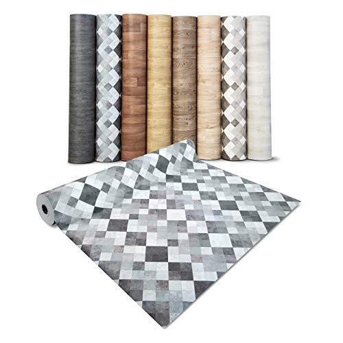 casa pura® CV Bodenbelag Toscana Aqua - extra abriebfester PVC Bodenbelag (geschäumt) - Naturstein Marmor Mosaik - edle Steinoptik - Oberfläche strukturiert - Meterware (200x150 cm)