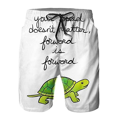 Yesliy Forward is Turtle - Pantalones cortos para hombre (secado rápido)