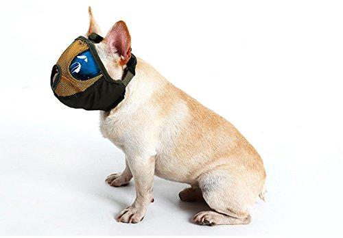 Respirable Bozal para Perros Anti-Mordedura Bozales Ladrido Bozal Cómodo Cubrebocas De Malla,Yellow,M