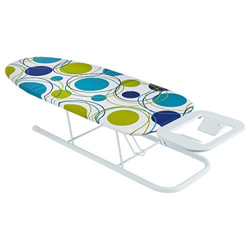 ONVAYA Tischbügelbrett | Mini Bügelbrett | Bügeltisch | Kleines, platzsparendes Bügelbrett (Punkte grün)