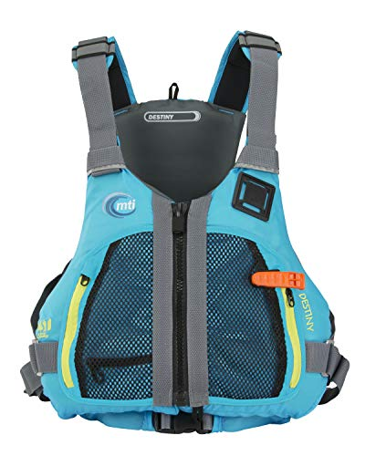 MTI Destiny Women's Life Jacket - Tropical Blue/Light Gray - SM/MD (29-40')