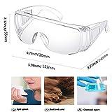 TEKSHOPPING Paia di Occhiali di Protezione Sicurezza Protettivi Plastica Mascherina Protection...