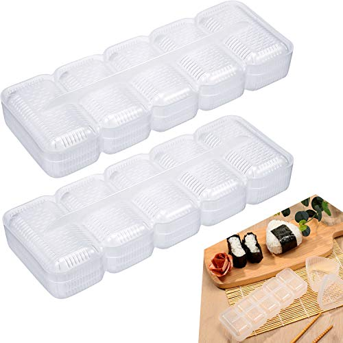 2 Pieces Rectangular Sushi Mold Rice Ball Mold Sushi Rice Shape Maker for Home Kitchen Restaurant Sushi Making Tools