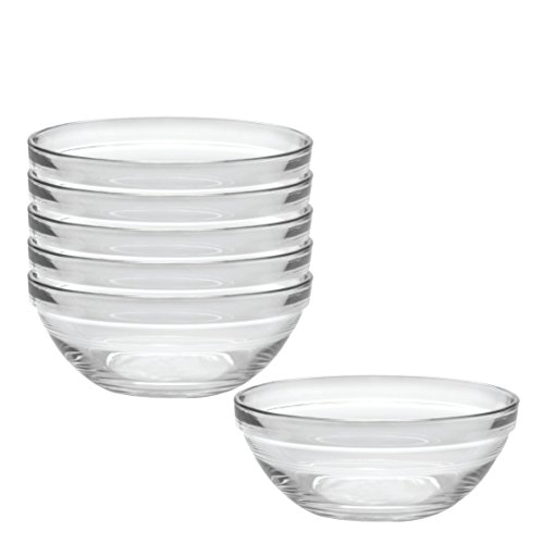Duralex Made In France Lys 5-1/2-Inch Stackable Clear Bowl, Set of 6