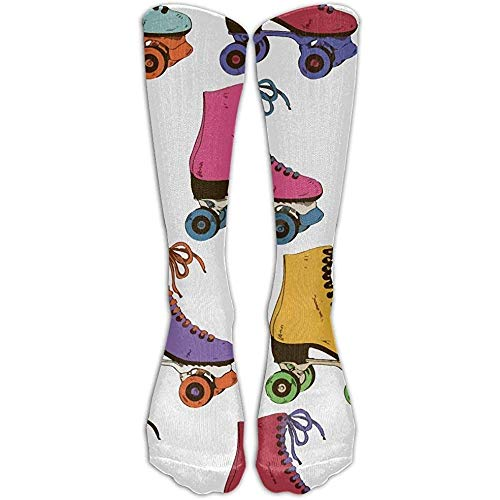 NA vrouwen mannen kousen laarzen lange sokken retro kleurrijke rolschaatsen gedrukt Crew sokken