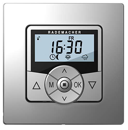 Rademacher 5665-AL Troll Comfort DuoFern, Funk Zeitschaltuhr für Rolläden, Rohrmotor, Rolladenmotor, Rolladensteuerung (Aluminium, Grau)