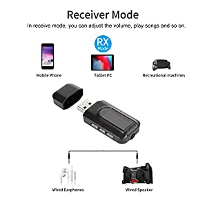 2 In 1 Stereo Bluetooth Audio Adapter,Enable Bluetooth function for TVs and Other Non-Bluetooth Devices,HiFi Audio…
