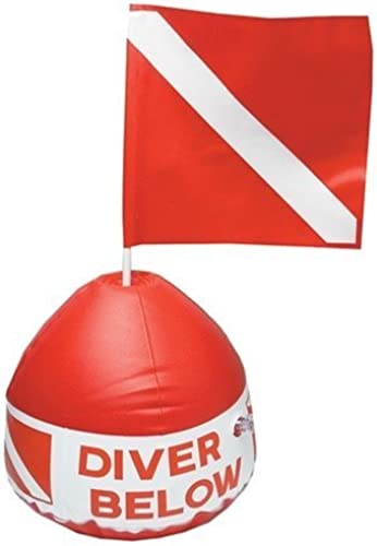 Innovative Diver Below Inflatable Buoy Base with Flag. by Innovative Scuba Concepts
