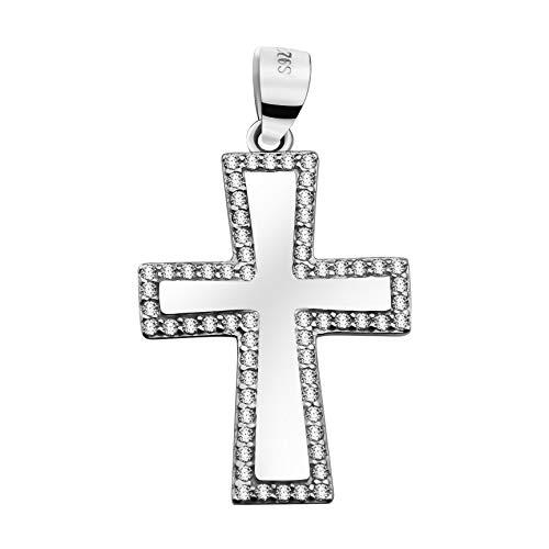 SOFIA MILANI - Colgante para Mujeres en Plata de Ley 925 - con Circonitas - Diseño Cruzado - 60257
