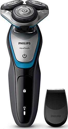 Philips AquaTouch S5400 - Afeitadora (Rotación, 2 Año(s), Negro, Azul, Plata, LED,...