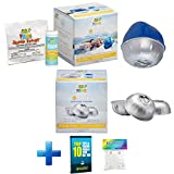 HotTubClub Frog @Ease Floating Sanitizing System for Tubs and Spas - Contains (@Ease SmartChlor Sanitizing System, @Ease SmartChlor 3pk Refill Kit, Floating ScumBug & Hot Tub Care e-Book (9 Items)