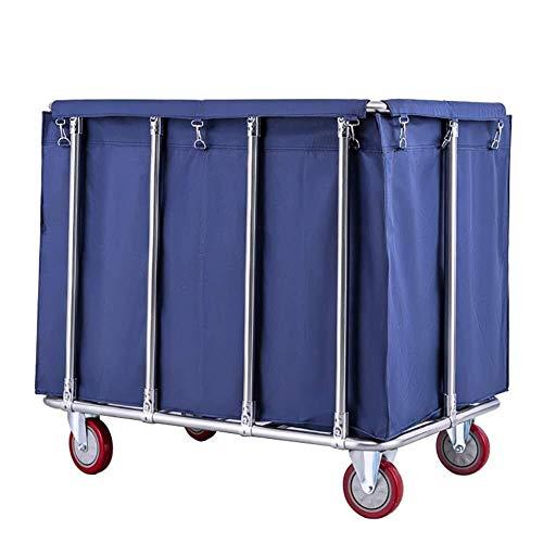 Jiamuxiangsi Wasserij Bins Extra Grote Waswagen, 400L Industriële Rolling Linnen Winkelwagen met 5 Cm Wielen, Hampers voor Wasserij, Ondersteuning 440 Lbs Wasmand