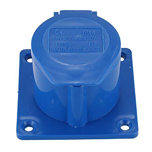 LilyJudy AC 220-250V 16A 2P + E IEC309-2 Enchufe Industrial Empotrable Azul