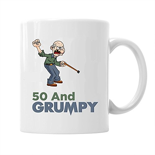 50th Birthday Gift Idea for Men, Funny, Novelty, Keepsake for 50 Year Old, Coffee Mug
