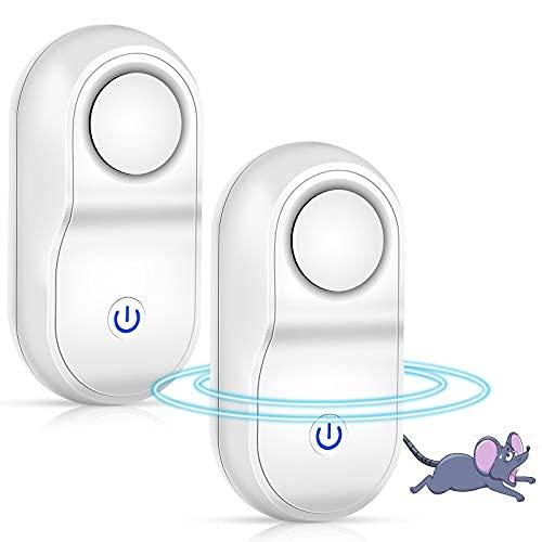 OVAREO 2 repellenti a ultrasuoni per topi, ad ultrasuoni, Big Power, con conversione di frequenza, pestello elettromagnetico, repellente anti-zanzare per scarafaggi, topi, zanzare, ragni, giardini
