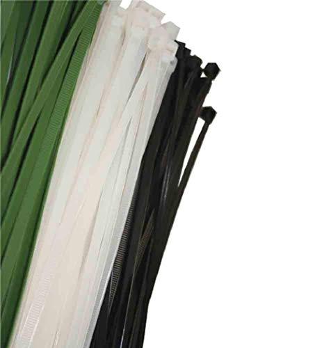 EDP 48425 Lot de 100 colliers de serrage Noir 250 x 4,8 mm