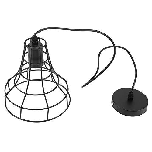 Plafondverlichting Lamp, E27 Plafond Vintage Hanglampen Lamp IJzeren Kooi Armatuur Home Hanglampen Plafonnier 90-250V(4# -18 * 100cm)