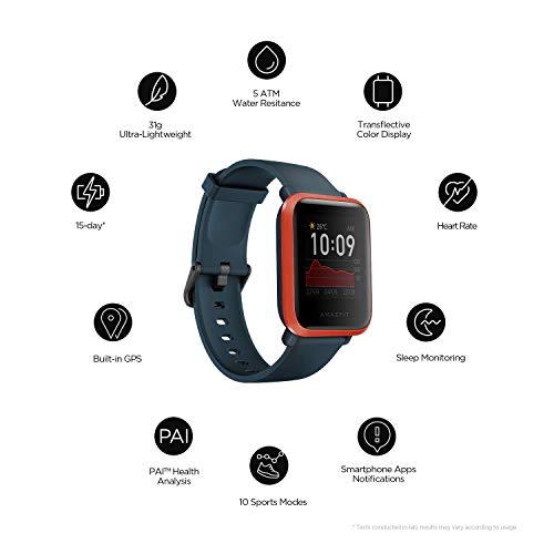 Amazfit Bip S Smartwatch Reloj Inteligente Fitness Rastreador con Monitor cardíaco y Gimnasia batería útil de 40 días duración Sumergible 5 ATM Bluetooth 5.0 / BLE Andriod iOS (White) miniatura
