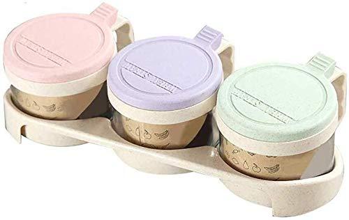 3-in-1 voorraad kruidenmiddel africhten glazen keuken bewaardoos container verzegeld jar kruidenpotjes suiker pot